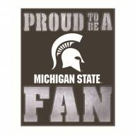 Michigan State Spartans Metal LED Wall Sign
