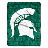 Michigan State Spartans Micro Grunge Blanket