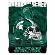 Michigan State Spartans Micro Raschel Overtime Blanket