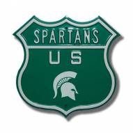 Michigan State Spartans NCAA Embossed Route Sign