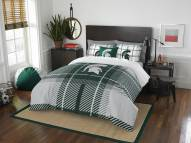 Michigan State Spartans Plaid Full Comforter Set
