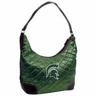 Michigan State Spartans Quilted Hobo Handbag