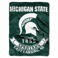 Michigan State Spartans Rebel Raschel Throw Blanket