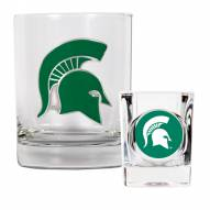 Michigan State Spartans Rocks Glass & Shot Glass Set