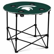 Michigan State Spartans Round Folding Table