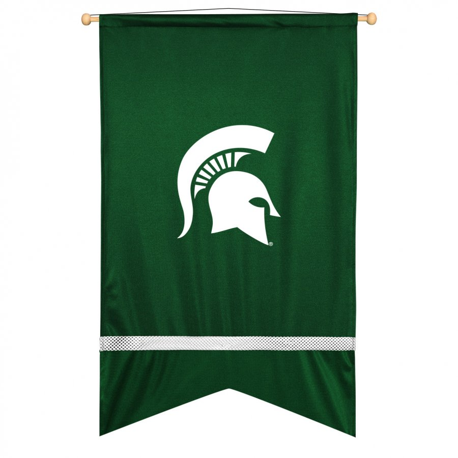 Michigan State Spartans Sidelines Wall Flag