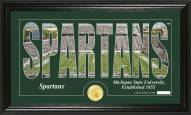 Michigan State Spartans Silhouette Bronze Coin Panoramic Photo Mint