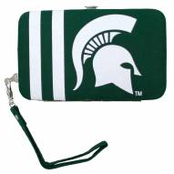 Michigan State Spartans Smart Wristlet Purse