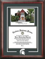 Michigan State Spartans Spirit Diploma Frame with Chapel Image