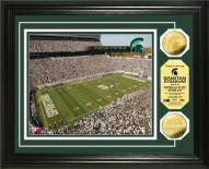 Michigan State Spartans Stadium 24KT Gold Coin Photomint