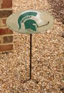 Michigan State Spartans Staked Bird Bath