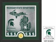 Michigan State Spartans State Bronze Coin Photo Mint