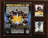 "Michigan Wolverines 12"" x 15"" All-Time Greats Photo Plaque"
