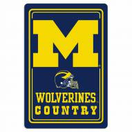 "Michigan Wolverines 12"" x 18"" Metal Sign"
