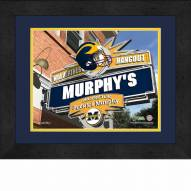 Michigan Wolverines 13 x 16 Personalized Framed Sports Pub Print