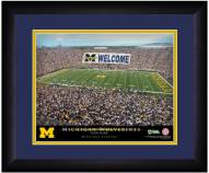 Michigan Wolverines 13 x 16 Personalized Framed Stadium Print