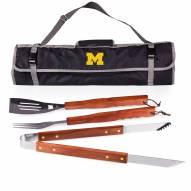 Michigan Wolverines 3 Piece BBQ Set