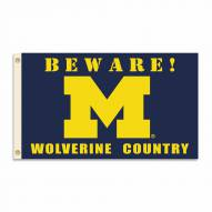 Michigan Wolverines 3' x 5' Beware Flag