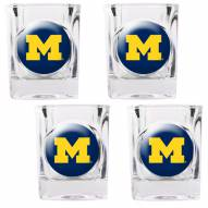 Michigan Wolverines 4 Piece Square Shot Glasses