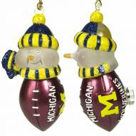 Michigan Wolverines All-Star Light Up Snowman Ornament