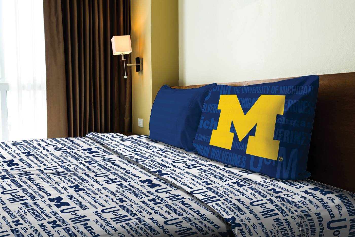 Michigan Wolverines Bed Sheets