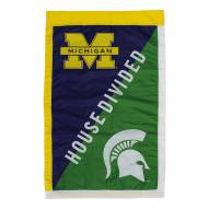 "Michigan Wolverines 28"" x 44"" Double Sided Applique Flag"