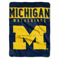 Michigan Wolverines Basic Raschel Blanket