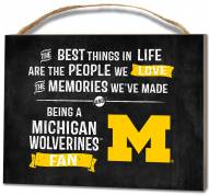 Michigan Wolverines Best Things Small Plaque