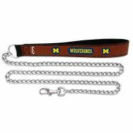 Michigan Wolverines Chain Dog Leash