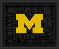 Michigan Wolverines College Word Cloud