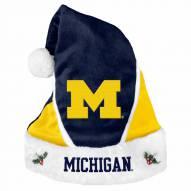 Michigan Wolverines Colorblock Santa Hat