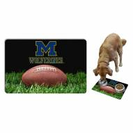 Michigan Wolverines Dog Bowl Mat