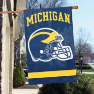 Michigan Wolverines NCAA Embroidered / Applique College Flag Banner