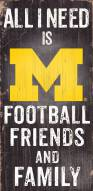 Michigan Wolverines Football, Friends & Family Wood Sign