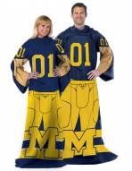 Michigan Wolverines Full Body Comfy Throw Blanket