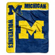 Michigan Wolverines Jersey Mesh Raschel Throw Blanket