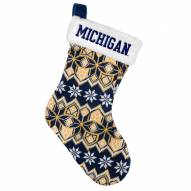 Michigan Wolverines Knit Christmas Stocking