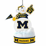 Michigan Wolverines LED Snowman Ornament