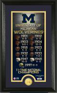 Michigan Wolverines Legacy Bronze Coin Panoramic Photo Mint
