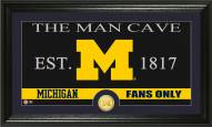 Michigan Wolverines Man Cave Bronze Coin Panoramic Photo Mint