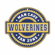 Michigan Wolverines Man Cave Fan Zone Wood Sign