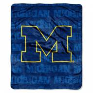 Michigan Wolverines Micro Grunge Blanket