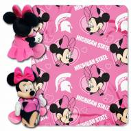 Michigan Wolverines Minnie Mouse Throw Blanket