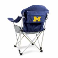 Michigan Wolverines Navy Reclining Camp Chair
