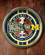 Michigan Wolverines NCAA Chrome Wall Clock