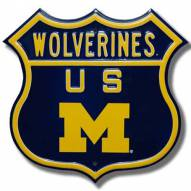 Michigan Wolverines NCAA Embossed Route Sign