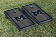 Michigan Wolverines Onyx Stained Border Cornhole Game Set