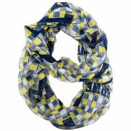 Michigan Wolverines Plaid Sheer Infinity Scarf