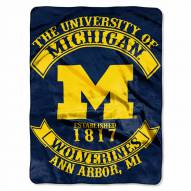 Michigan Wolverines Rebel Raschel Throw Blanket