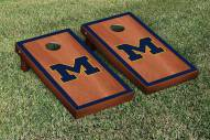 Michigan Wolverines Rosewood Stained Border Cornhole Game Set